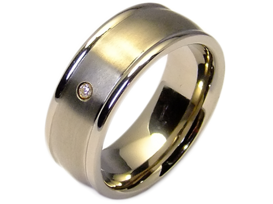 Andre - single ring (titanium)