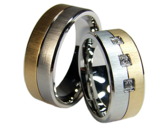 Orion - a pair of rings (stainless steel)