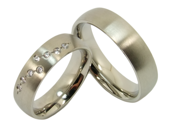 Josephine - a pair of rings (stainless steel)