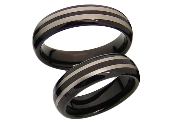 Lois - a pair of rings (tungsten)