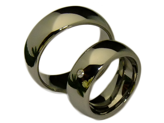 Paris - a pair of rings (tungsten)