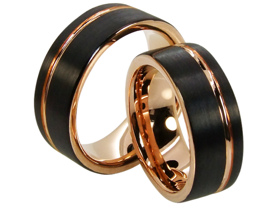 Grace - a pair of rings (tungsten)