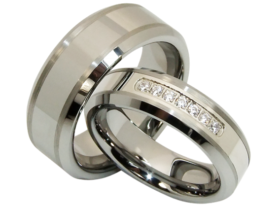 Eros im Paar - Damenring in 6 oder 8 mm (Wolfram)