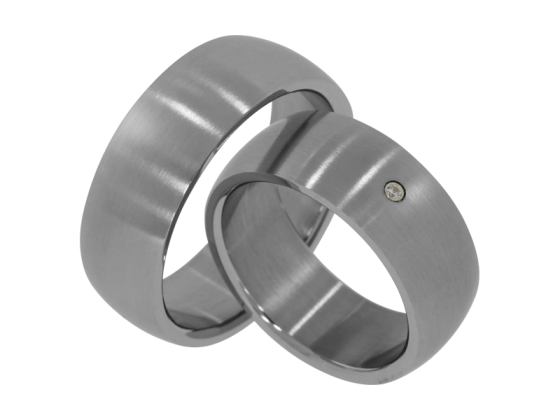 David - a pair of rings (stainless steel)