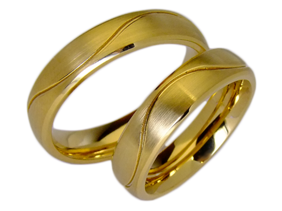 Elizabeth - a pair of rings (stainless steel)