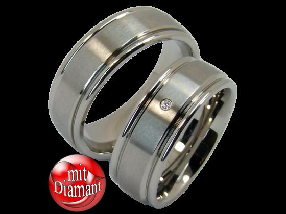Romy - a pair of rings (stainless steel)