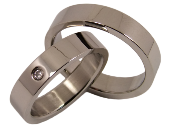 Nick - a pair of rings (stainless steel)