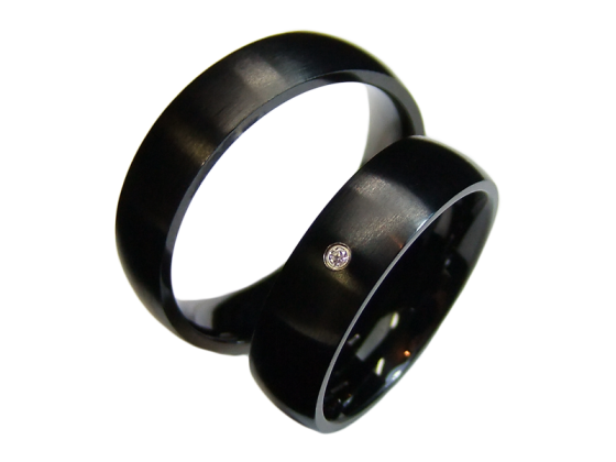 Elena - a pair of rings (stainless steel)