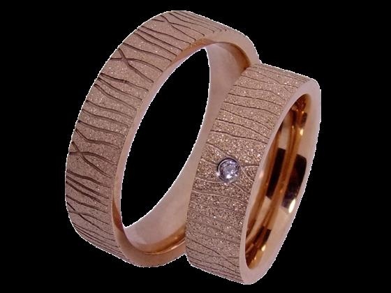 Heidi - a pair of rings (stainless steel)