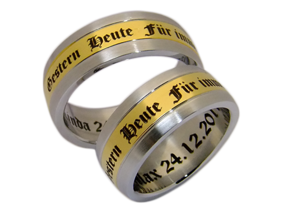 Annette - a pair of rings (stainless steel)