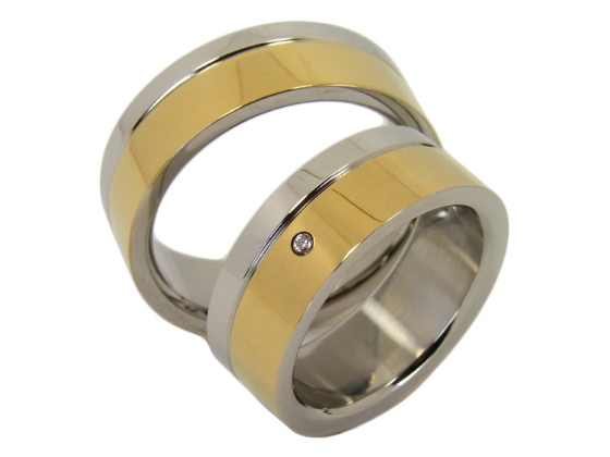 Marie - a pair of rings (stainless steel)
