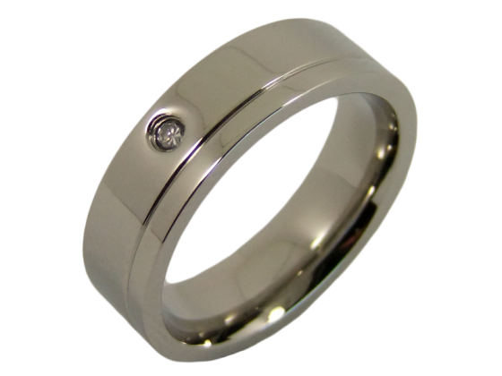 Angelina - single ring (stainless steel)