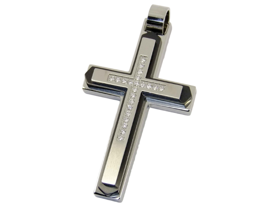 Cross - black (stainless steel)