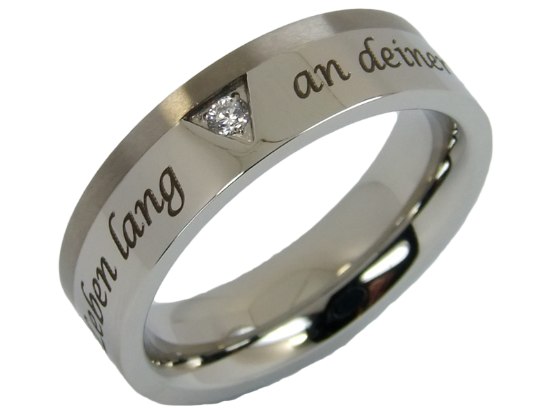 extravaganter Ehering Hochzeitsring Ring aus Edelstahl & Titan mit ...