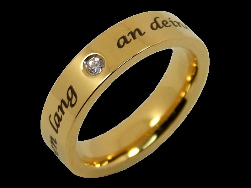 schlichte vergoldete Eheringe Verlobungsringe Partnerringe mit ...