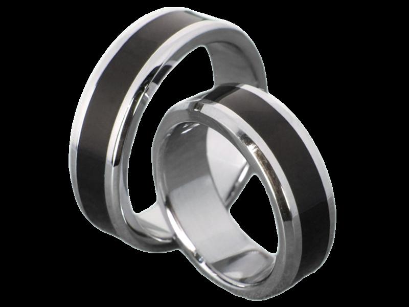 Partnerringe schwarz edelstahl  schwarze Ringe - kwo-trauringe