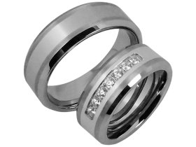 Milo - a pair of rings (tungsten)