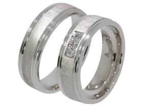 Rosi - a pair of rings (silver)