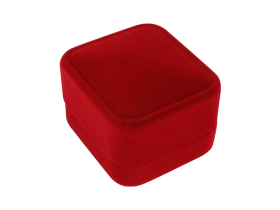 Ringbox cube shaped velvet