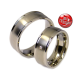 Andre - a pair of rings with diamond (titanium)