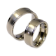 Andre - a pair of rings (titanium)
