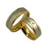 Steffi - a pair of rings (stainless steel)