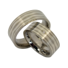 Helen - a pair of rings (stainless steel & silver)