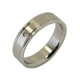 Zahra - a pair of rings (stainless steel)